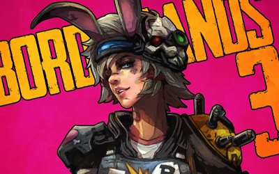 Borderlands 3, Tiny Tina, el arte, el cartel, los personajes principales, Borderlands