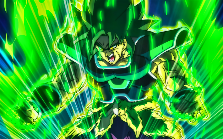 Download wallpapers anger broly green fire flames dragon - Dragon ball super background music mp3 download ...