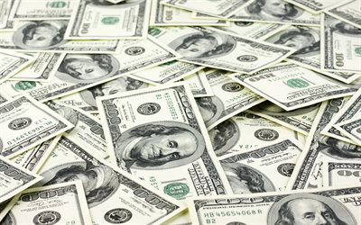 american dollars, money background, banknotes, dollars, finance concepts, background with dollars, lot of money, currency concepts