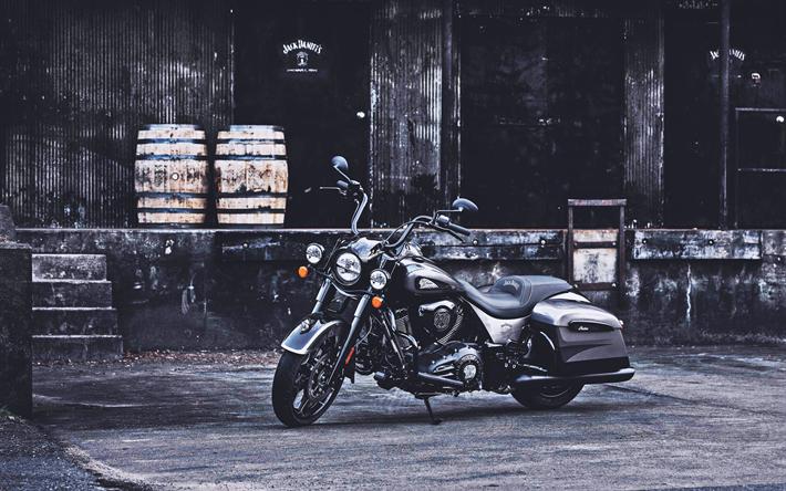 ダウンロード画像 ジャックダニエルルドスプリングフィールドの暗馬, 4k, 2019年のバイク, カスタムバイク, チューニング, インドバイク フリー. のピクチャを無料デスクトップの壁紙