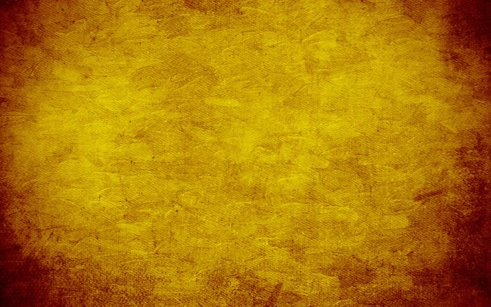 Descargar Fondos De Pantalla Amarillo Grunge Textura, De