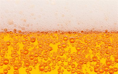 beer texture, 4k, drinks texture, beer with foam texture, beer foam, white foam, beer background, beer, light beer