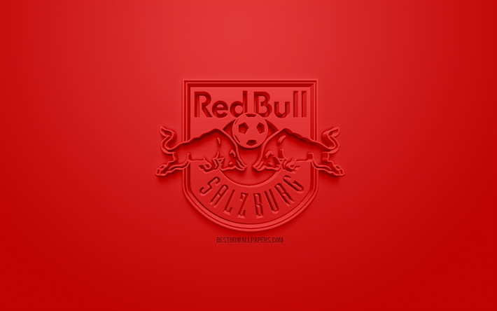 Download Wallpapers Fc Red Bull Salzburg Creative 3d Logo