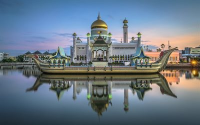Royal mosque, Brunei, Sultan Omar Ali Saifuddin Mosque, Bandar Seri Begawan