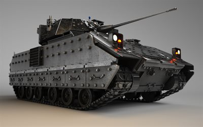 M2A2 Bradley, 4k, AIFV, US army, NATO, ХМ765, infantry fighting vehicle