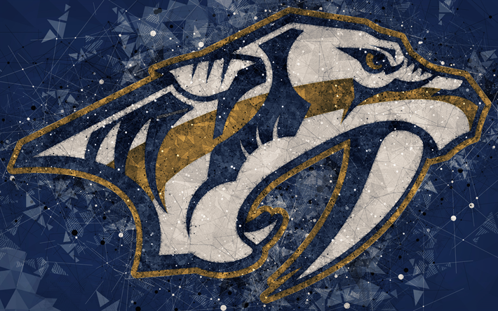 Nashville Predators 4k American Hockey Club Creative Art Logo Geometric