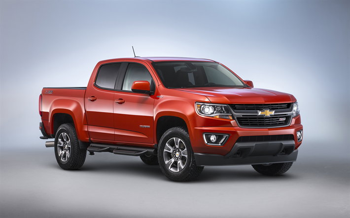 Download Wallpapers Chevrolet Colorado Zr2 2019 4k Exterior Red