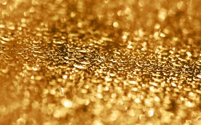 drops on gold, golden texture with drops, golden glitter texture, gold metal background