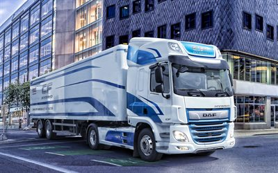 DAF CF Hybrid, 2019, electric truck, future technologies, electric cars, DAF