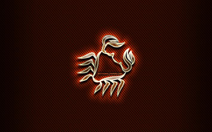 thumb2 cancer glass sign blue rhombic background creative art cancer zodiac symbol astrology