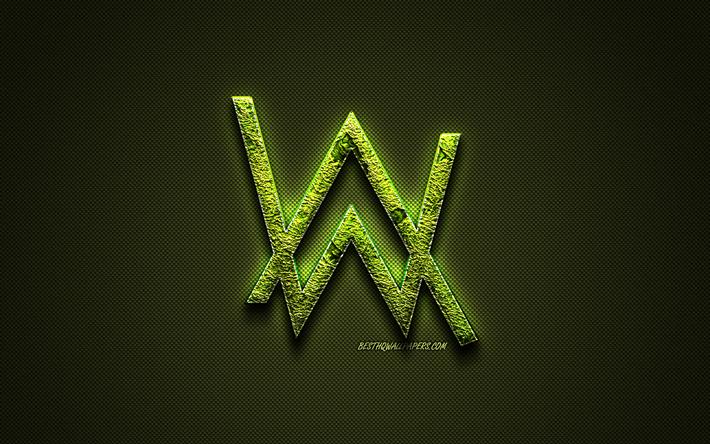 Download Wallpapers Alan Walker Logo Green Creative Logo
