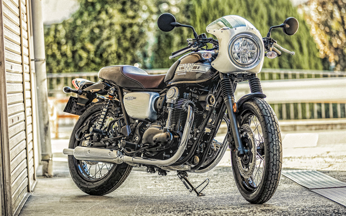 Kawasaki W800, 2019, new motorcycles, black and brown W800, japanese motorcycles, Kawasaki