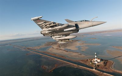 Dassault Rafale, French fighter, French Air Force, military aircraft, aircraft in the sky, strike aircraftMBDA Meteor