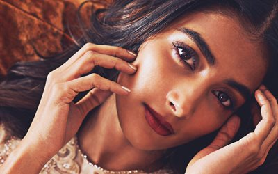 Pooja Hegde, movie stars, 2020, indian actress, Bollywood, beauty, brunette woman, Pooja Hegde photoshoot