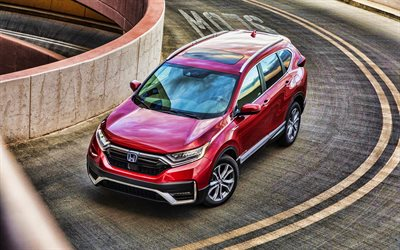 4k, Honda CR-V Hybrid, road, 2020 cars, crossovers, 2020 Honda CR-V, japanese cars, Honda