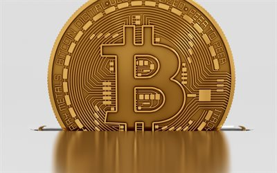 bitcoin, 3d gold sign, crypto currency, electronic money concepts, btc, finance concepts, gold bitcoin