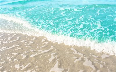 sea breeze, blue water, sea, summer, beach, waves