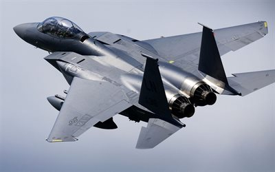 mcdonnell douglas f-15e strike eagle, american fighter-bomber, us air force, military aircraft, flight