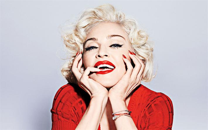 Download Wallpapers Madonna Portrait Makeup Photoshoot