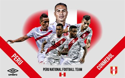 Peru national football team, team leaders, CONMEBOL, Peru, South America, football, logo, emblem, Paolo Guerrero