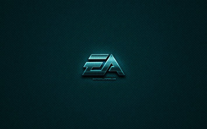 Download wallpapers EA Games glitter logo, creative