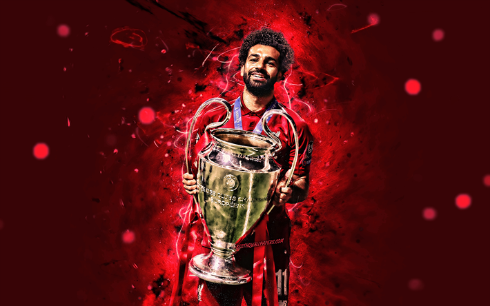 Download Wallpapers Mohamed Salah With Cup 4k Uefa