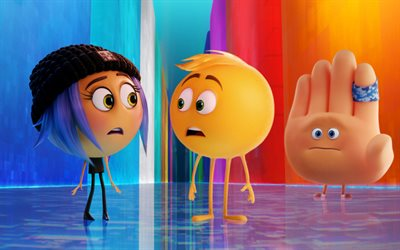 Jailbreak, Gene, Hi-5, 3d-animation, 2017 movie, The Emoji Movie
