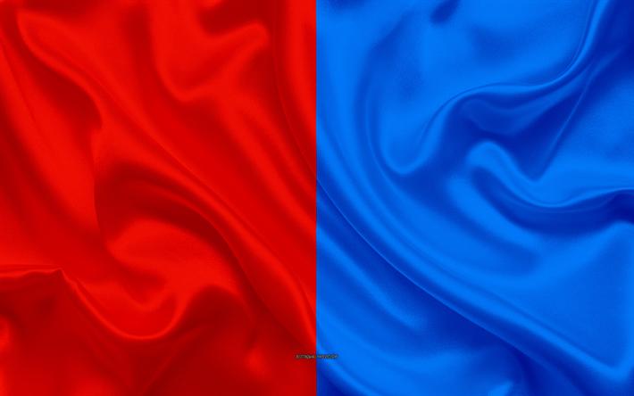 Scarica Sfondi Bandiera Del Catania 4k Seta Trama Rosso Blu