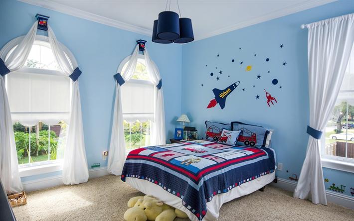 Scarica sfondi interni eleganti, per bambini camera da letto ...