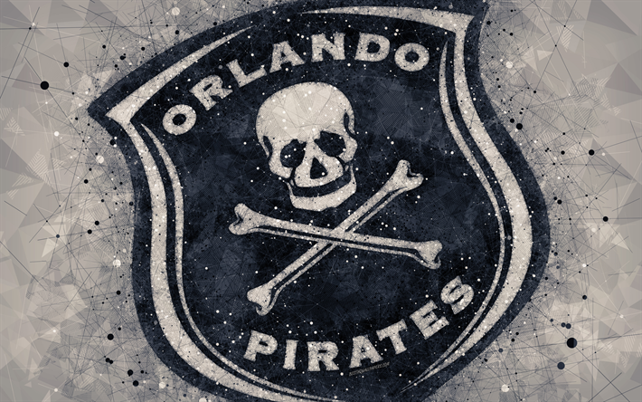 Download Wallpapers Orlando Pirates Fc 4k Logo Geometric Art