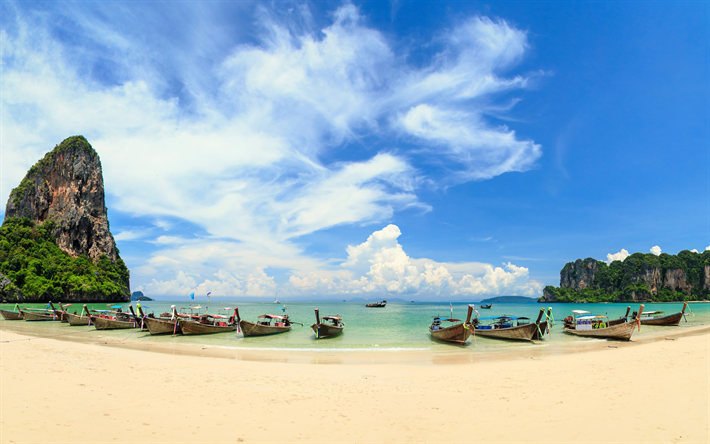 download wallpapers phuket tropical island thailand boats hiking