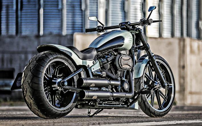 Download wallpapers Harley-Davidson Thunderbike, motorcycle