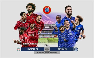 Liverpool vs Chelsea, 2019 UEFA Super Cup, football match, promotional materials, UEFA, team leaders, Liverpool FC vs Chelsea FC, Vodafone Park, Istanbul, Turkey, football
