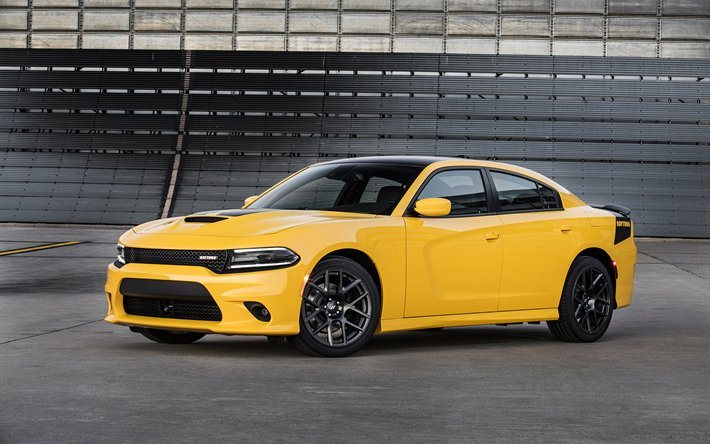 Dodge Charger Daytona, 2017, tuning, supercars, yellow charger