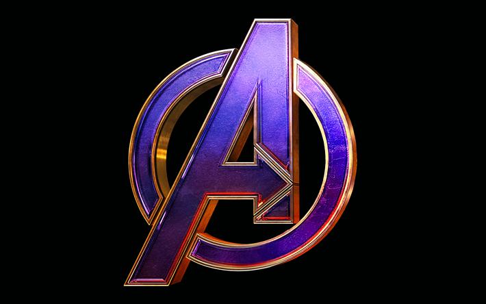 Télécharger Fonds D écran Avengers Finale De Logo 4k 3d