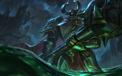Mordekaiser, darkness, MOBA, warrior, League of Legends, artwork, Mordekaiser League of Legends