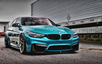 bmw m3, hdr, f80, 2019 autos, tunned m3, tuning, supersportwagen, blau, m3, deutsch, autos, blau f80, bmw