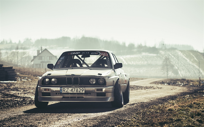 Download Wallpapers 4k Bmw M3 E30 Offroad Tuning Tunned M3 Low Rider Bmw E30 German Cars Bmw Silver E30 For Desktop Free Pictures For Desktop Free