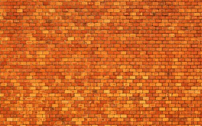 orange brickwall, macro, orange bricks, identical bricks, bricks textures, orange brick wall, bricks, wall
