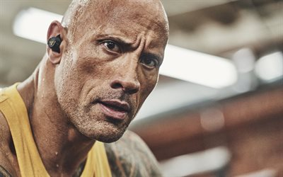 Dwayne Johnson, american actor, portrait, bodybuilding, american wrestler, photoshoot