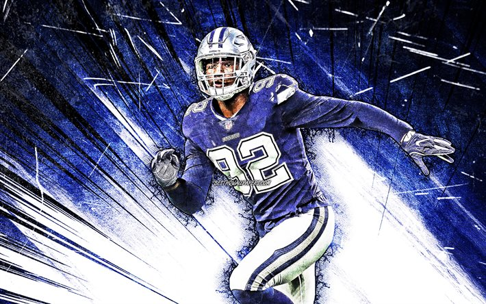 4k, dorance armstrong, grunge, kunst, dallas cowboys, american football, dorance armstrong jr, nfl, national football league, blue abstract-strahlen, dorance armstrong dallas cowboys, dorance armstrong 4k