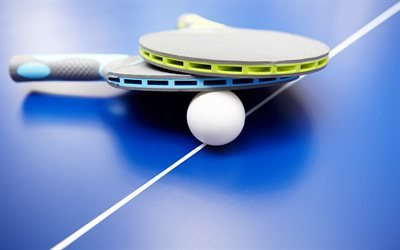 Download Wallpapers Table Tennis Racket Ping Pong Table