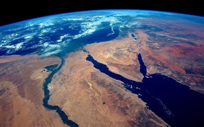 Africa from space, Earth, Egypt, Africa, the Suez Canal, Continent, Red Sea