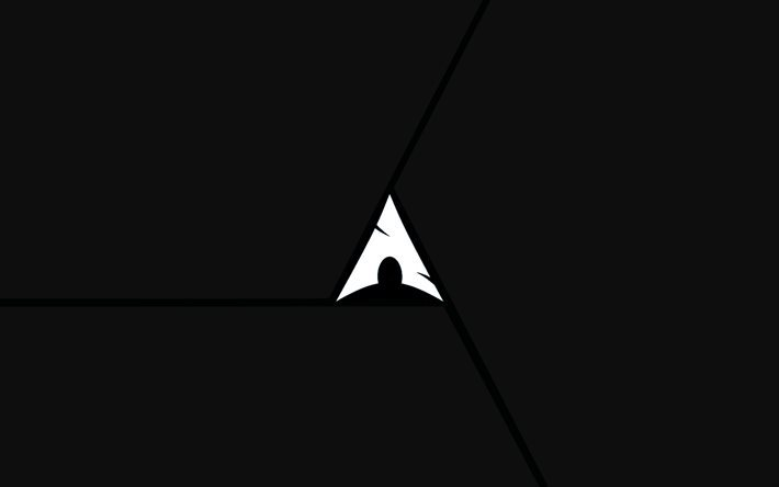 Arch Linux, creative, logo, black background