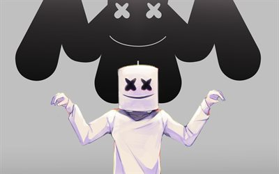 Marshmello, DJ, art, logo, progressive house