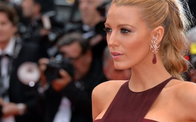 Blake Lively, American actress, portrait, makeup, beautiful girl