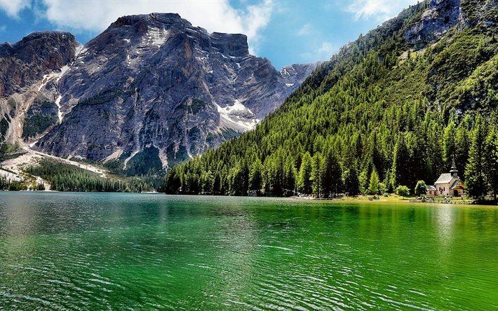 Scarica Sfondi Lago Di Carezza Estate Foresta Laghi
