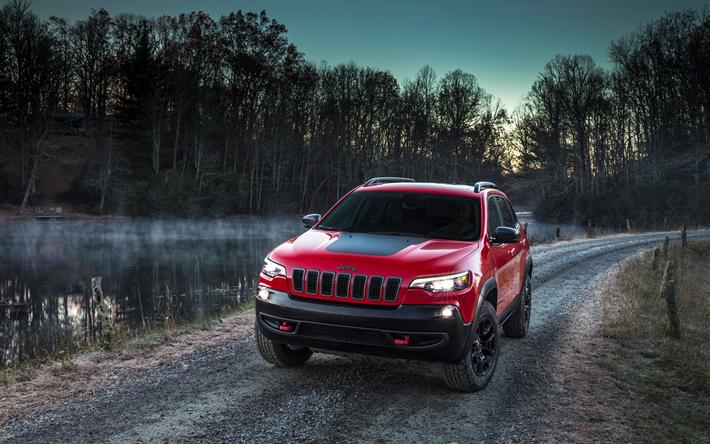 Télécharger fonds d'écran Jeep Cherokee Trailhawk, Vus ...