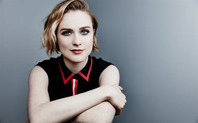 Evan Rachel Wood, portrait, photoshoot, black dress, face, make-up, fashion model, American actress