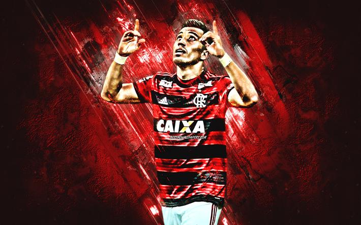 Download Wallpapers Fernando Uribe Flamengo Striker Joy